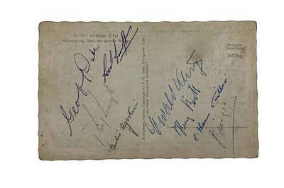 Lot 96-A Signed Postcard Featuring Many Rare Autographs