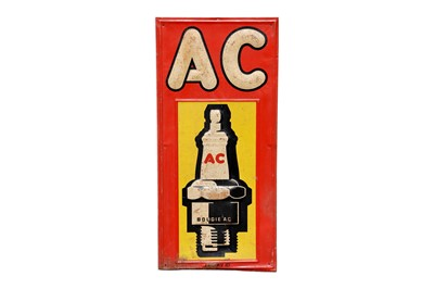 Lot 57-AC Spark Plugs Advertising Sign