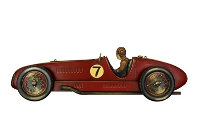Lot 37-Wooden Side Profile of a Racing Car