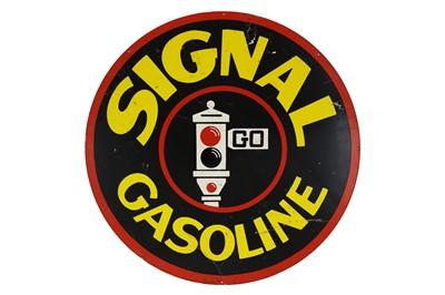 Lot 35-Signal Gasoline Advertising Sign