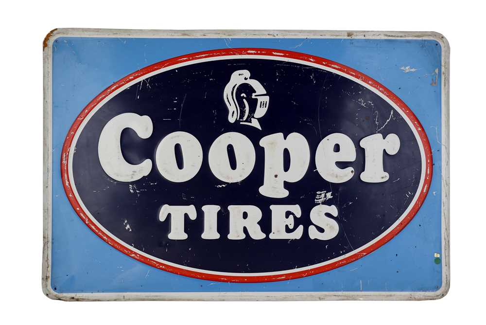 Lot 38-Cooper Tires Advertising Sign