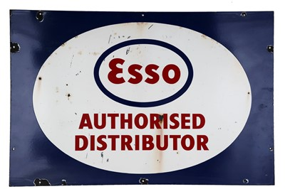 Lot 39-Esso Authorised Distributor Enamel Sign