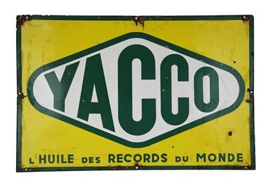 Lot 40-Yacco Enamel Sign