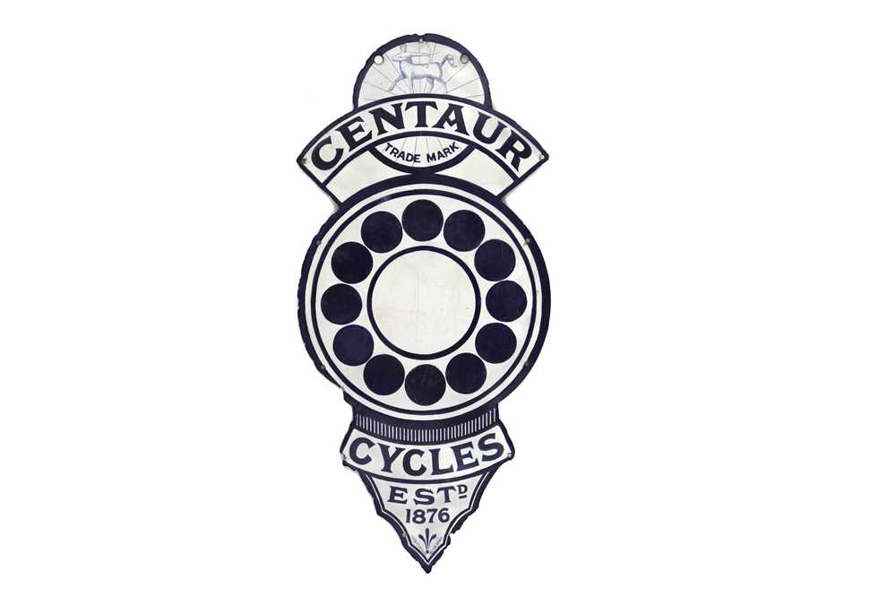 Lot 30-Centaur Cycles Enamel Sign