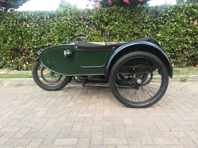 Lot -1922 Royal Enfield 8hp Model 180 Combination