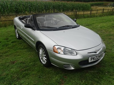 Lot 320 - 2002 Chrysler Sebring 2.7 LXi Convertible