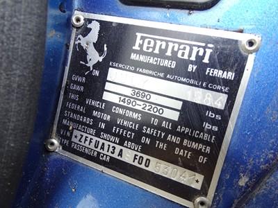 Lot 323-1984 Ferrari 308 GTS QV