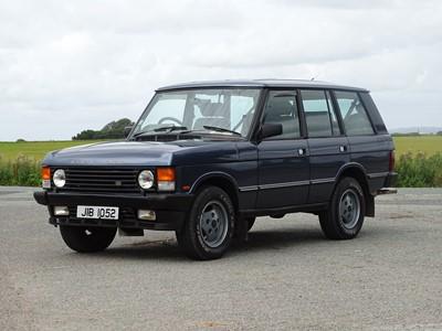Lot 332-1989 Range Rover Vogue EFI
