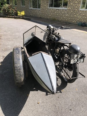 Lot 209-1927 Sunbeam Model 9 with Swallow Sports sidecar