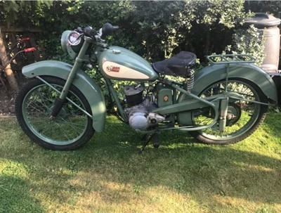 Lot 214-1952 BSA Bantam D1