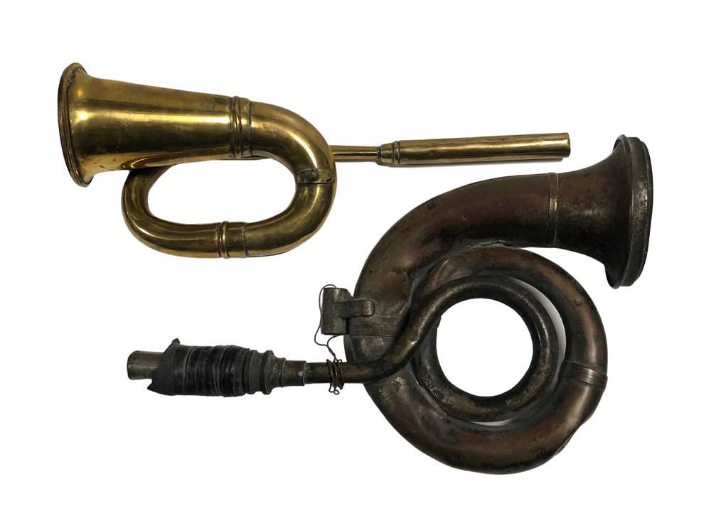 Lot 108-Two Vintage Horns