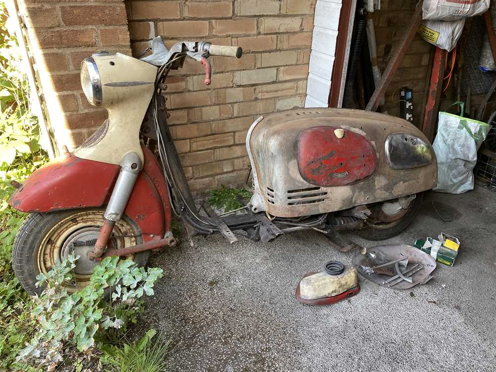 Lot 224-c.1960 Puch Alpine Scooter