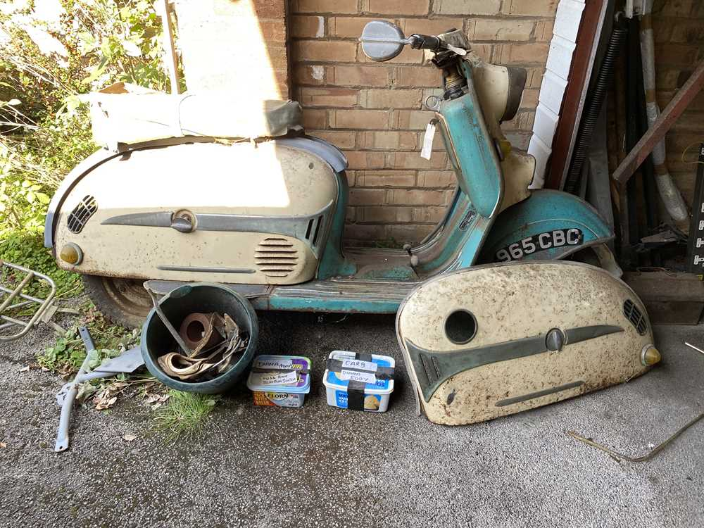 Lot 203-1961 Durkepp Diana TS Scooter