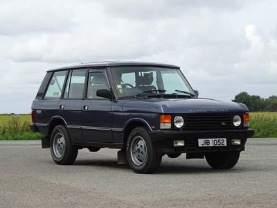 Lot 342-1989 Range Rover Vogue EFI