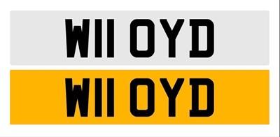 Lot 100.-Registration Number - W11 OYD