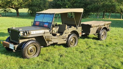 Lot -1944 Willys Jeep & Trailer