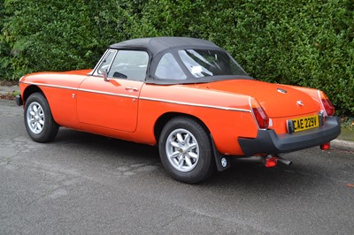 Lot 323-1980 MG B Roadster