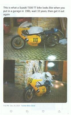 Lot 41-1974 Suzuki T500