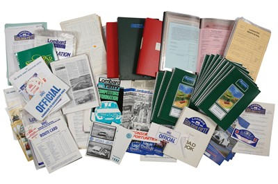 Lot 104 - Quantity of Lombard/RAC Rally Paperwork