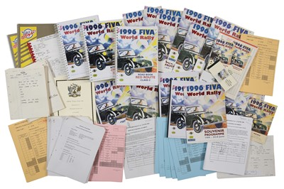 Lot 105 - Quantity of World Rally Paperwork