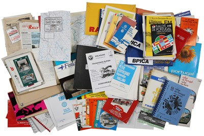 Lot 106 - Quantity of European Rallying Paperwork