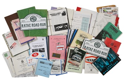 Lot 110 - Quantity of British Rallying Paperwork