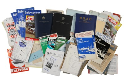 Lot 111 - Quantity of Scottish Rallying Paperwork
