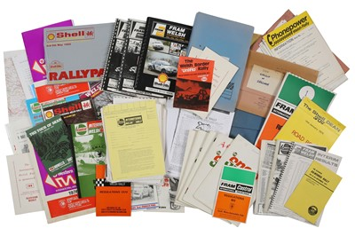 Lot 112 - Quantity of Welsh Rallying Paperwork