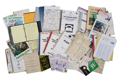 Lot 113 - Quantity of French Rallying Paperwork