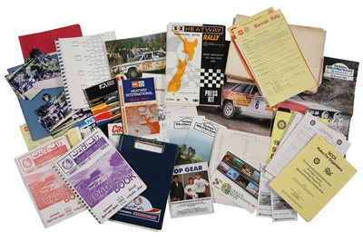 Lot 114 - Quantity of International Rallying Paperwork