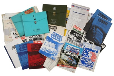 Lot 118 - Quantity of British Rallying Paperwork