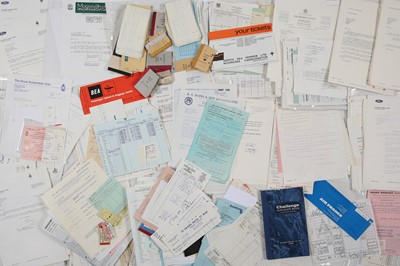 Lot 121 - Large Quantity of Receipts for Expenses Accrued During Rallying Events