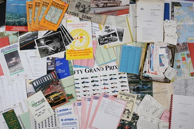 Lot 126 - Quantity of Assorted Rallying and Motorsport Paperwork