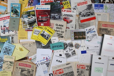 Lot 127 - Quantity of Assorted Rallying Paperwork