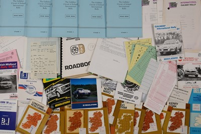 Lot 130 - Quantity of Irish Rallying Paperwork