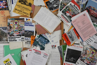 Lot 131 - Quantity of Motor Racing Paperwork