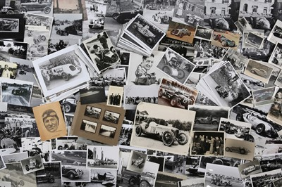 Lot 5 - Quantity of Photographs Depicting Pre-War Motor Racing
