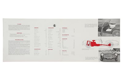 Lot 14 - Original AC Cobra Sales Brochure