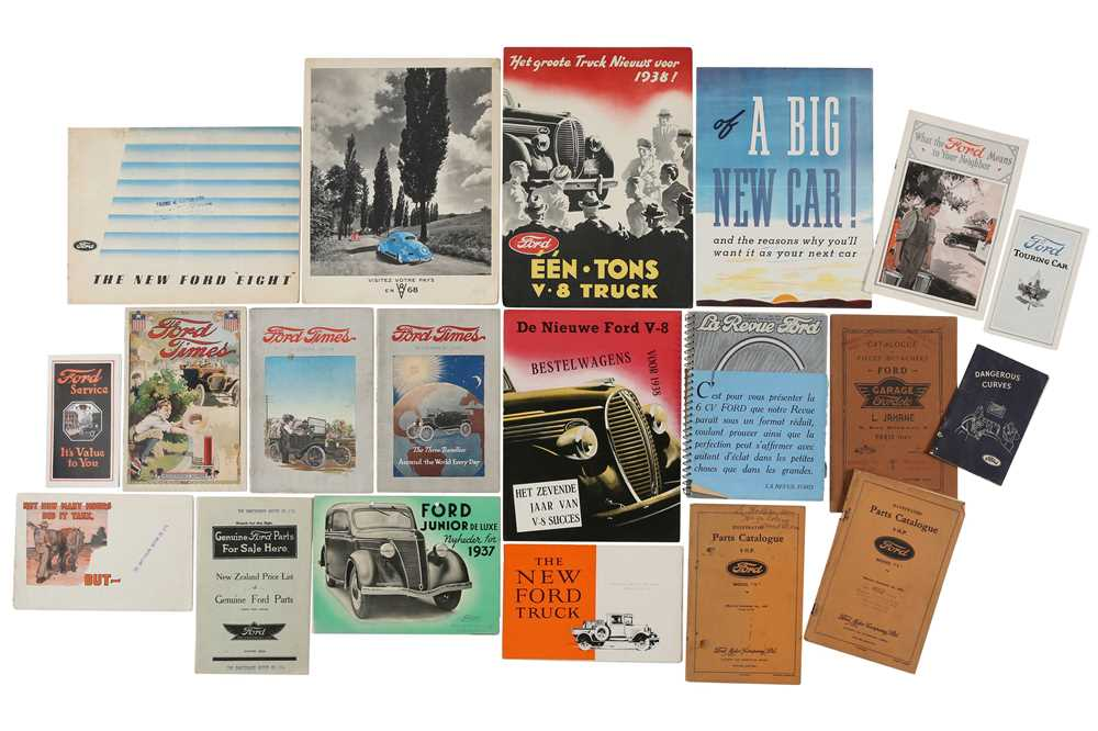 Lot 16 - Quantity of Pre-War Ford Sales Brochures and Booklets