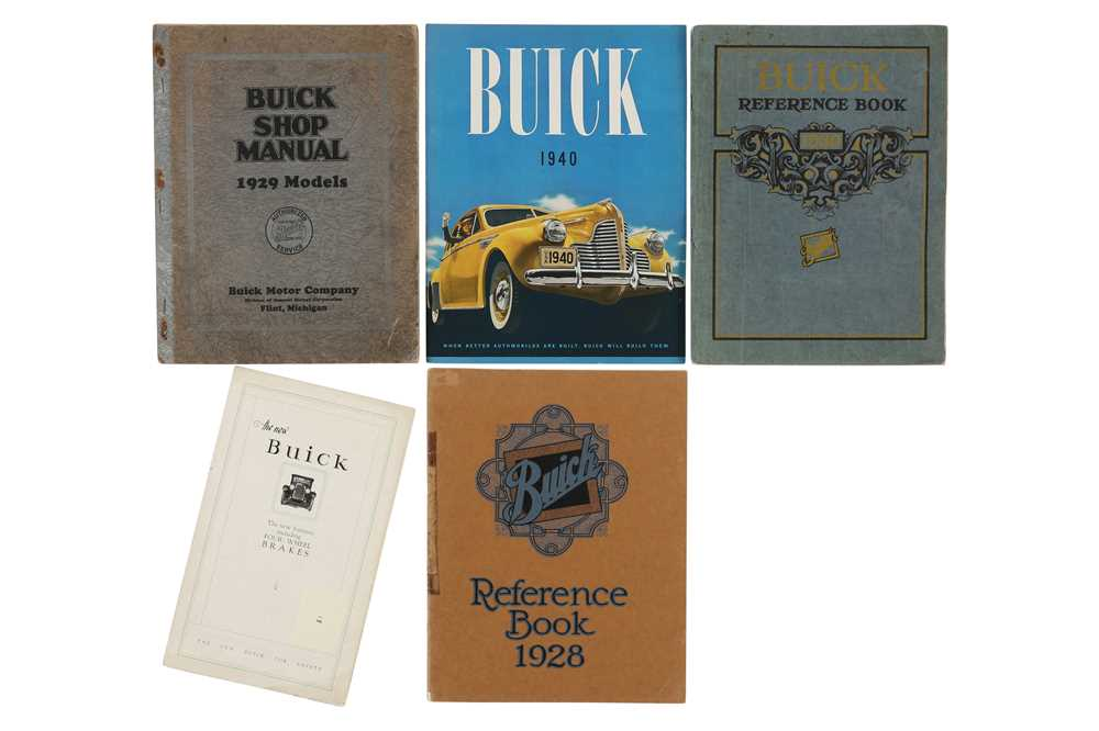 Lot 18 - Early Buick Literature