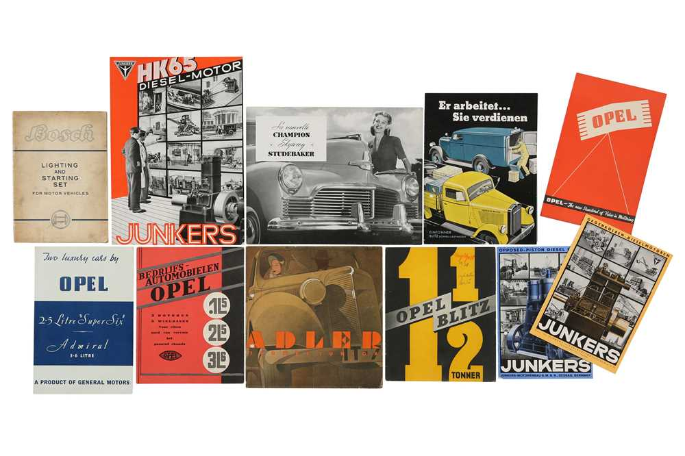 Lot 21 - Ten Pre-War German Sales Brochures