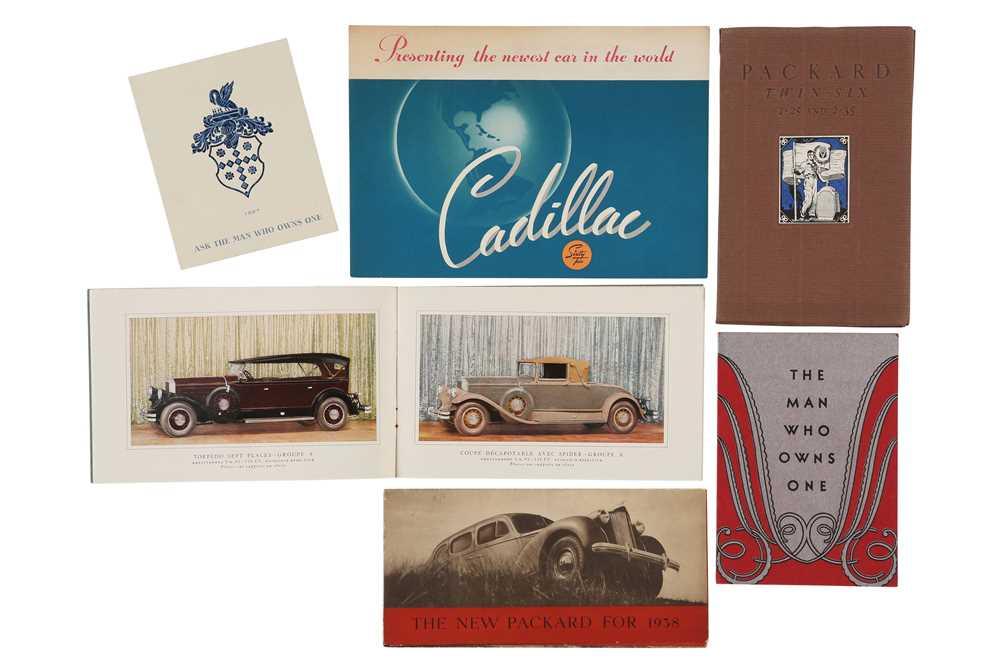 Lot 22 - Six Early American Sales Brochures