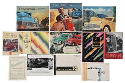 Lot 23 - Twelve Pre-War American Sales Brochures