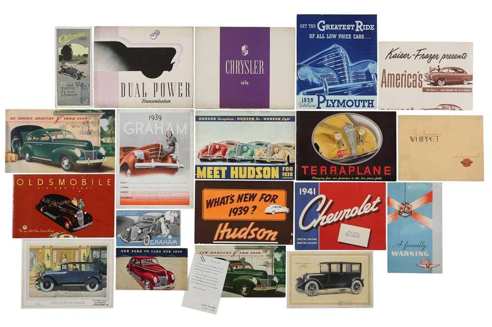 Lot 24 - Twenty-One Pre-War Sales Brochures