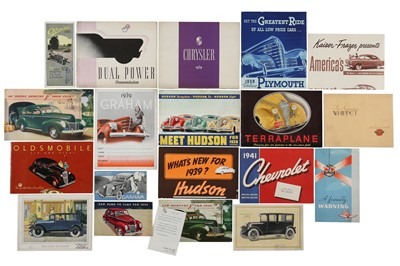 Lot 24 - Twenty-One Pre-War Sales Brochures