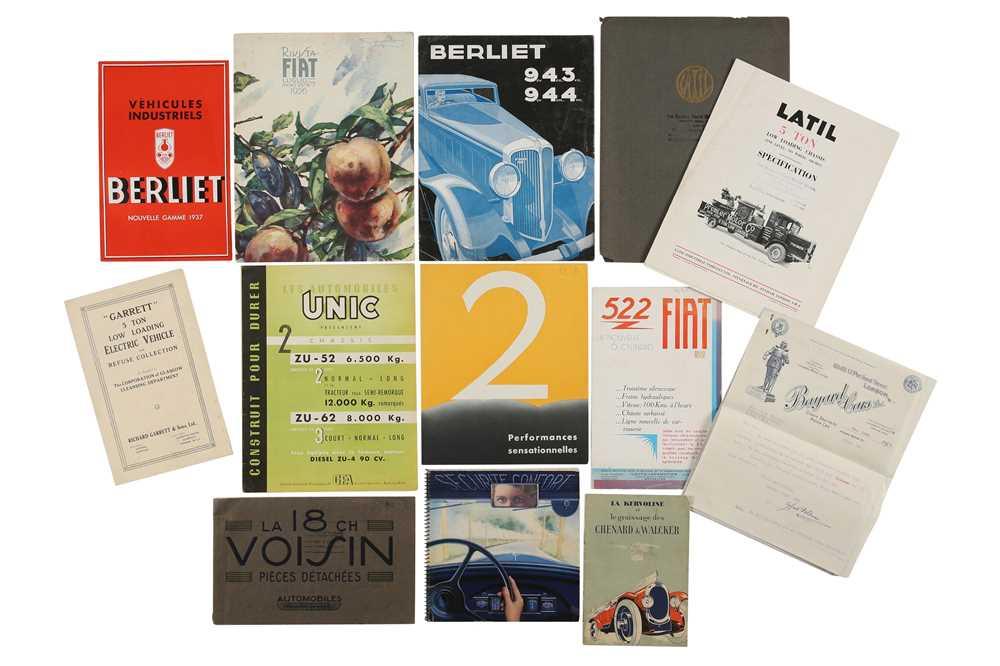 Lot 26 - Quantity of Pre-war Sales Brochures