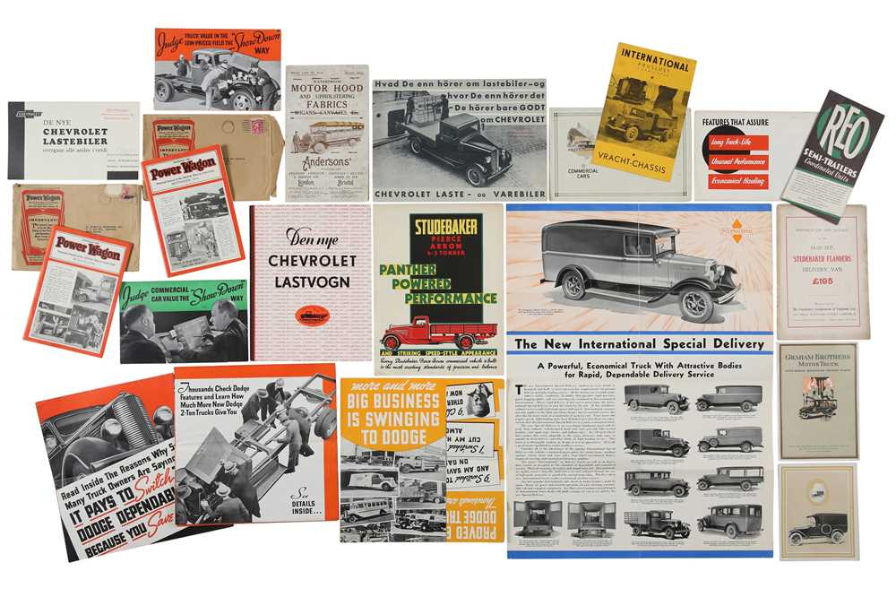 Lot 27 - Pre-war Commercial Vehicle Sales Brochures