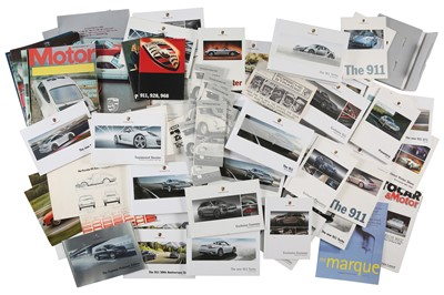 Lot 34 - Quantity of Porsche Sales Brochures and Ephemera