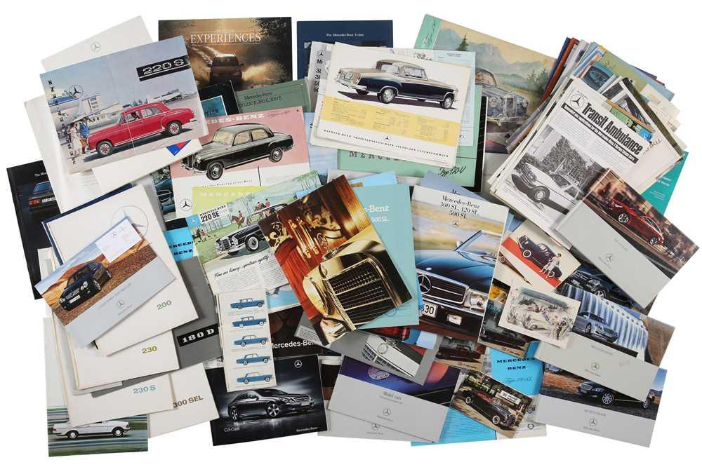 Lot 36 - Quantity of Mercedes-Benz Sales Brochures
