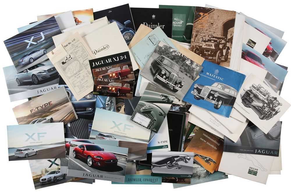 Lot 38 - Quantity of Jaguar and Daimler Sales Brochures